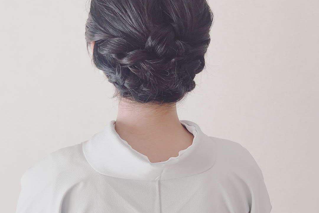 七五三 母親の着物に合う髪型 ヘアアレンジ ボブからミディアム